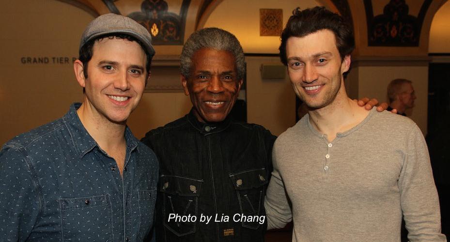 Santino Fontana, André De Shields and Bryce Pinkham. Photo by Lia Chang