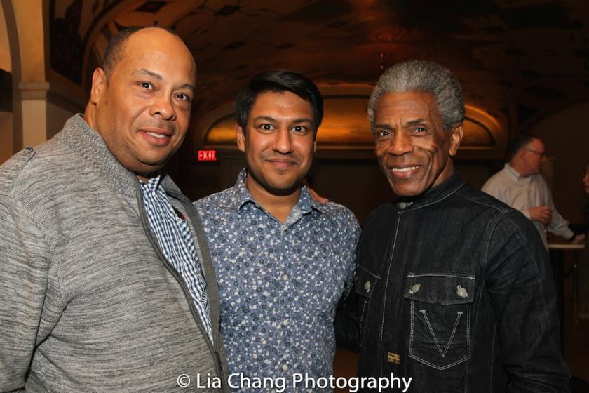 Wayne Pretlow, Vishal Vaidya and André De Shields. Photo by Lia Chang