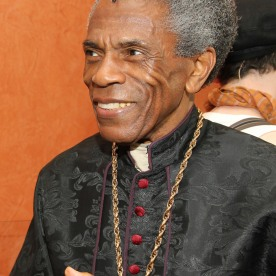STC's The Taming of the Shrew preshow: André De Shields as Cardinal Gremio. Photo by Lia Chang