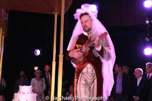 Tom Story as Hortensio during the intermezzo. Photo by Lia Chang
