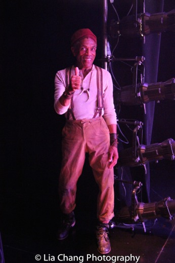 André De Shields as Curtis in the wings during the intermezzo. Photo by Lia Chang