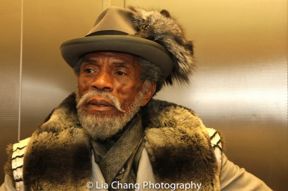 STC's THE TAMING OF THE SHREW postshow: André De Shields as Vincentio. Photo by Lia Chang