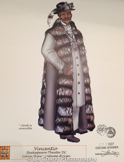 STC's THE TAMING OF THE SHREW postshow: André De Shields as Vincentio. Costume Design by Loren Shaw. Photo by Lia Chang