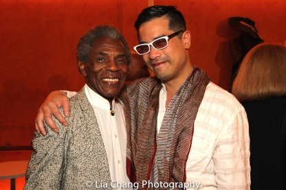 André De Shields and THE TAMING OF THE SHREW director Ed Sylvanus Iskandar. Photo by Lia Chang