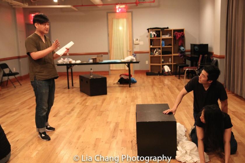 Chongren Fan, Qihao Huang, Esther Chen. Photo by Lia Chang