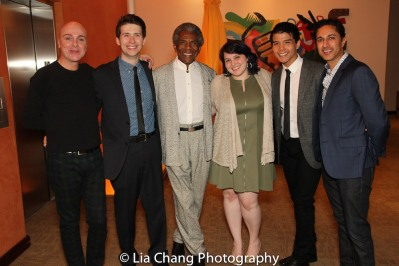Rick Hammerly, James Crichton, André De Shields, Micaela Cirimeli, Telly Leung and Maulik Pancholy. Photo by Lia Chang
