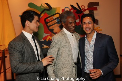 Telly Leung, André De Shields and Maulik Pancholy. Photo by Lia Chang