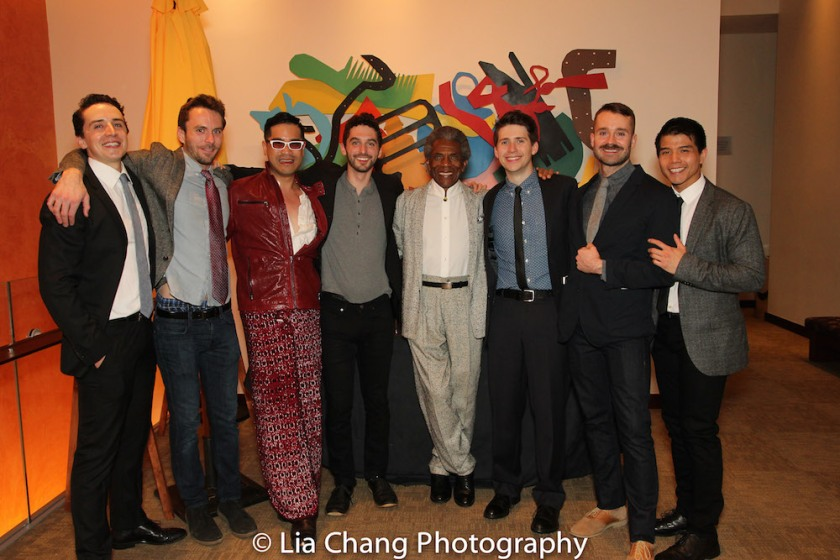 Stephen Elrod, Matthew Russell, Ed Sylvanus Iskandar, Brian Reisman, André De Shields, James Crichton, Jody Schum and Telly Leung. Photo by LIa Chang