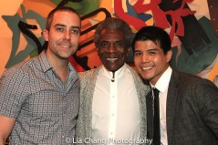 James Babcock, André De Shields and Telly Leung. Photo by Lia Chang