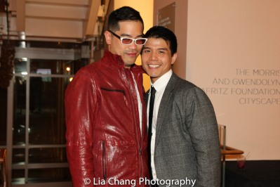 Director Ed Sylvanus Iskandar and Telly Leung. Photo by Lia Chang