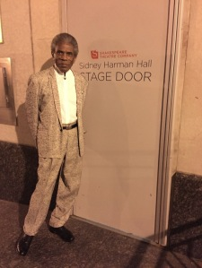 André De Shields at the Sidney Harman Hall stage door in Washington D.C. Photo by Lia Chang