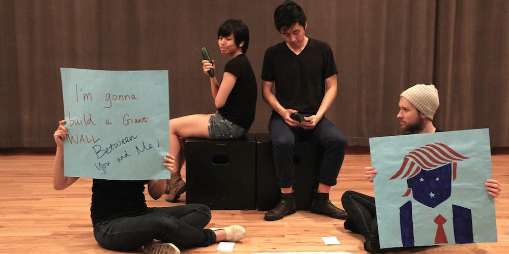 Esther Chen, Shan Y Chuang, Qihao Huang, Paul David Miller. Photo by Lia Chang