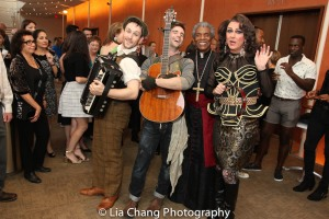STC's The Taming of the Shrew preshow: Jamison Foreman, Drew Foster, André De Shields and Rick Hammerly. Photo by Lia Chang