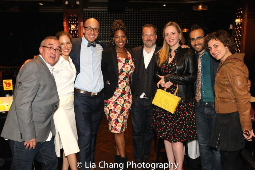 Guests at The 52nd Street Project's annual gala LAUGHING MATTERS (l to r): John Bowman, Jackie Holtzman, KeiLyn Durrell Jones, Marinda Anderson, David Costabile, Eliza Baldi, Michael Salinas, & Annie Purcell. Photo by Lia Chang