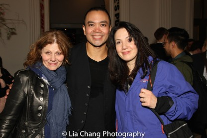 A guest, Jose Llana and AnnMarie Milazzo (PRETTY DEAD GIRL). Photo by Lia Chang