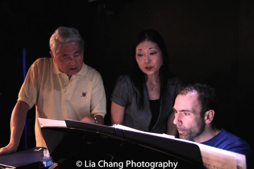 Alvin Ing, director Lainie Sakakura and musical director Thomas Conroy. Photo by Lia Chang