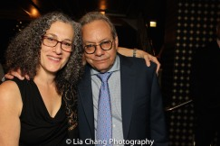 The 52nd Street Project's Executive Director Carol Ochs and Lewis Black. Photo by Lia Chang