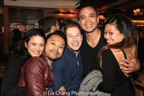 Diane De Boer, Billy Bustmante, Peyton Royal, Jose Llana and Renee Abulario. Photo by Lia Chang