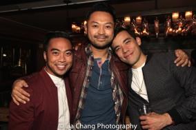 Enrico Rodriguez, Billy Bustamante and Conrad Ricamora. Photo by Lia Chang