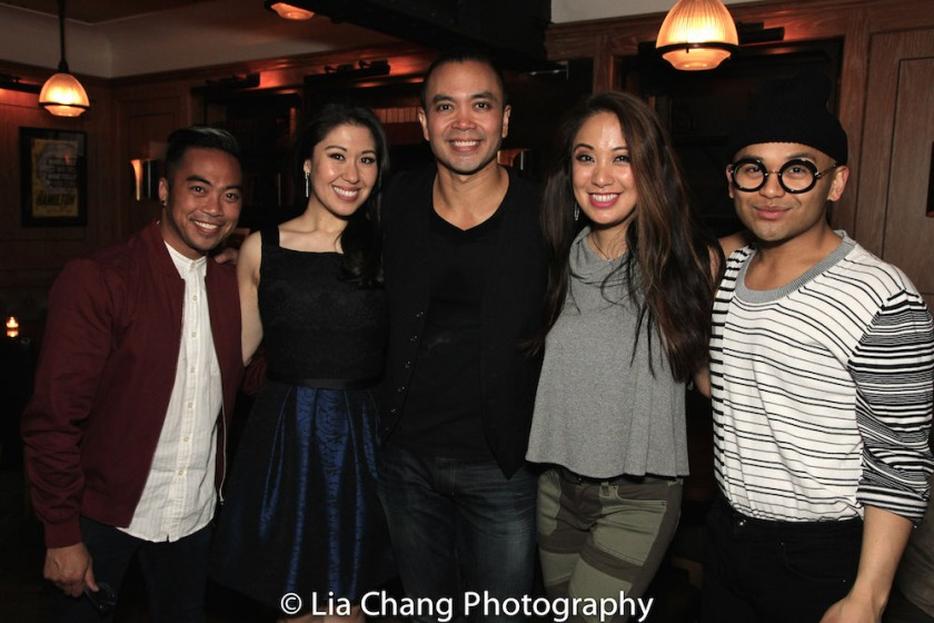 Enrico Rodriguez, Ruthie Ann Miles, Jose Llana, Jaygee Macapugay and Jeigh Madjus. Photo by Lia Chang