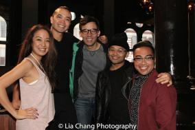 Jaygee Macapugay, Jose Llana, Conrad Ricamora, Jeigh Madjus and Enrico Rodriguez. Photo by Lia Chang