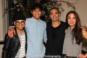 Jeigh Madjus, Trevor Salter, Jose Llana and Jaygee Macapugay. Photo by Lia Chang