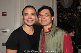 Jose Llana and Randy Gener. Photo by Lia Chang