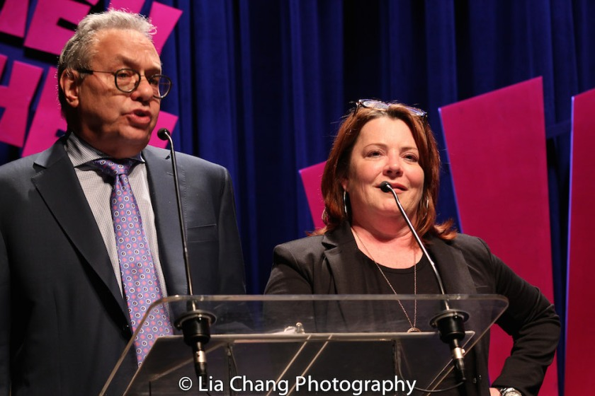 Lewis Black and Kathleen Madigan. Photo by Lia Chang