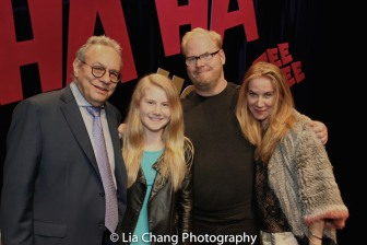 Lewis Black and the Gaffigan Family. Photo by Lia Chang