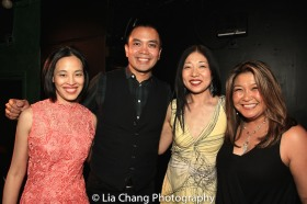 Lia Chang, Jose Llana, Lainie Sakakura and Hazel Anne Raymundo. Photo by Garth Kravits