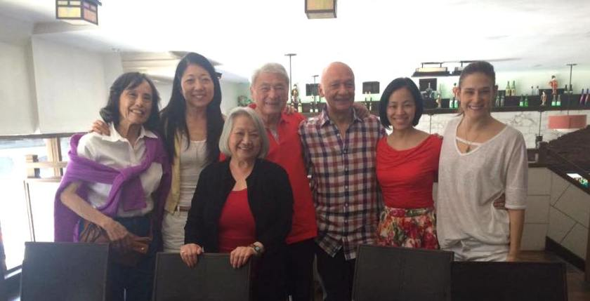 Happy Birthday Alvin (L-R) Mabel Wing, Lainie Sakakura, Virginia Wing, Jose Ahumada, Lia Chang, Ericka Yang.