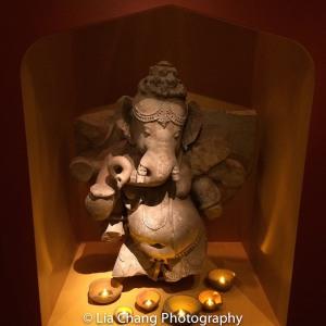 Dancing Ganesha, Central India, probably Madhya Pradesh, Chandela dynasty, 11th century Sandstone. Photo by Lia Chang