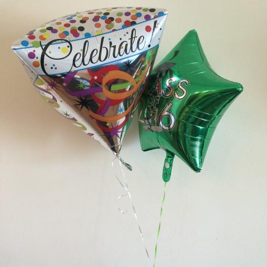 Graduation balloons. Photo by Lia Chang