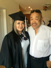 Asia Flores and her grandpa, Russell Chang. Photo by Lia Chang