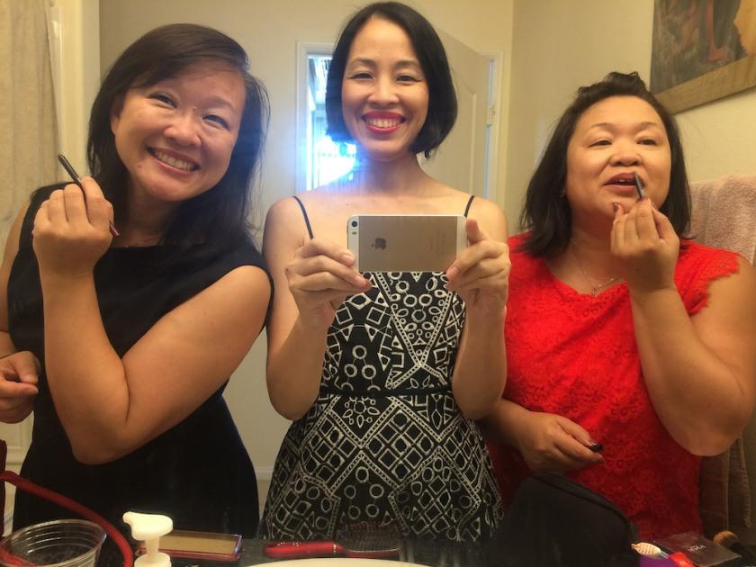 Tami Chang, Lia Chang and Marissa Chang-Flores. Photo by Lia Chang