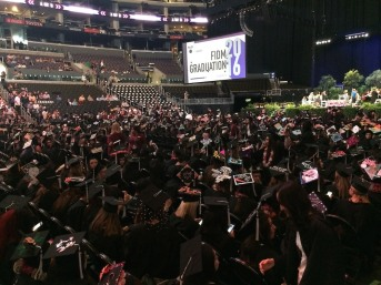 2016 FIDM Graduation at the Staples Center in LA on June 20, 2016. Photo by Lia Chang