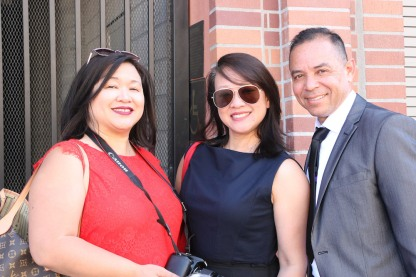 Marissa Chang-Flores, Tami Chang and Carlos Flores. Photo by Lia Chang