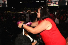 Marissa Chang-Flores and her daughter Asia Flores at the 2016 FIDM Graduation at the Staples Center in LA on June 20, 2016. Photo by Lia Chang