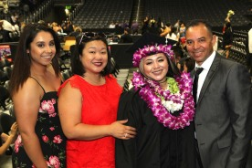 Kathy Pietra, Asia Flores with her parents, Marissa Chang-Flores and Carlos Flores.