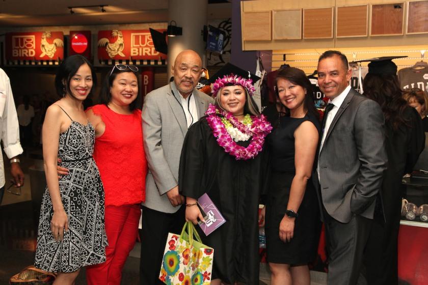Lia Chang, Marissa Chang-Flores, Russell Chang, Asia Flores, Tami Chang and Carlos Flores.