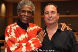 "André De Shields and Larry Spivack at the ""Celebrate Rwanda"" event at The SUNY Global Center in New York on June 29, 2016. Photo by Lia Chang"