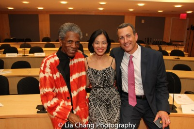 "André De Shields, Lia Chang and Drew Kahn at the ""Celebrate Rwanda"" event at The SUNY Global Center in New York on June 29, 2016. Photo by Garth Kravits"
