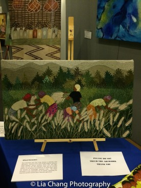 "Art by Rwandan Artists on display at the ""Celebrate Rwanda"" event at The SUNY Global Center in New York on June 29, 2016. Photo by Lia Chang"