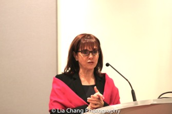 """Dr. Maryalice Mazzara, Director of Education Programs, SUNY's Office of Global Affairs speaks at the """"Celebrate Rwanda"""" event at The SUNY Global Center in New York on June 29, 2016. Photo by Lia Chang"""
