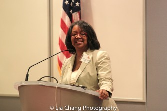 """President Katharine S. Conway-Turner, SUNY Buffalo State speaks at the """"Celebrate Rwanda"""" event at The SUNY Global Center in New York on June 29, 2016. Photo by Lia Chang"""