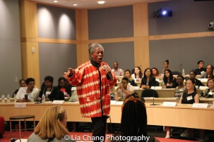 "André De Shields performs at the ""Celebrate Rwanda"" event at The SUNY Global Center in New York on June 29, 2016. Photo by Lia Chang"