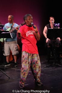 Anthony J. Mhoon, André De Shields and Kimberly Lawson. Photo by Lia Chang