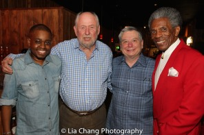 Co-director Samuel G. Roberson Jr., Co-director and Co-producer Dennis Začek, Co-producer Charles Grippo and André De Shields. Photo by Lia Chang