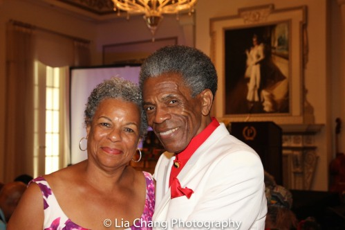 Dr. Sandra Adell with André De Shields at BTN's 30th Anniversary Bruncheon at the Palmer House Hilton in Chicago on August 9, 2016. Photo by Lia Chang