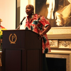 Marcia Pendleton accepts the 2016 Winona Lee Fletcher Award at BTN's 30th Anniversary Bruncheon at the Palmer House Hilton in Chicago on August 9, 2016. Photo by Lia Chang